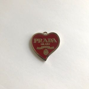 Burgundy Prada Heart Pendant